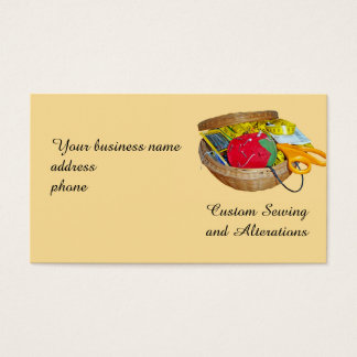 Sewing Basket Business Card