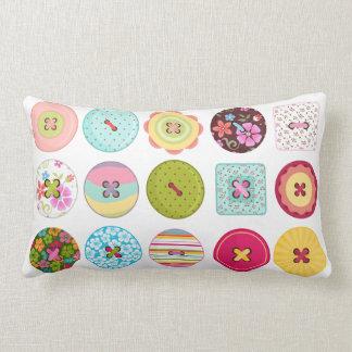 Sewing Buttons Lumbar Cushion