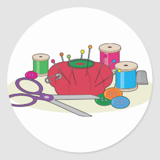 Sewing Classic Round Sticker