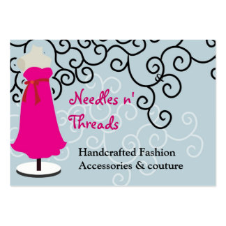 Sewing Couture pink couture stitching seamstress Business Cards