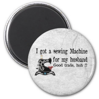 Sewing Joke 6 Cm Round Magnet