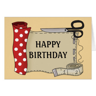 Sewing Kit Happy Birthday Card
