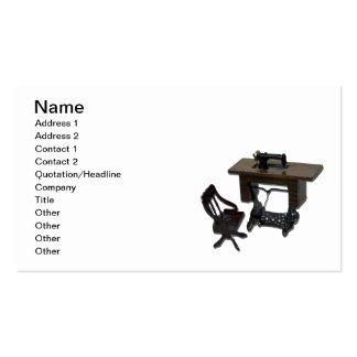 Sewing Machine and Chair Business Card Template