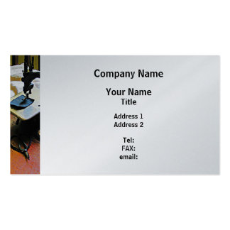 Sewing Machine and Cloth - Platinum Finish Business Card Templates
