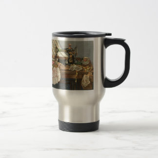 Sewing Machine and Dress Stainless Steel Travel Mug