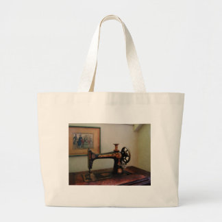 Sewing Machine and Lithograph Canvas Bag