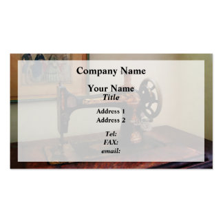 Sewing Machine and Lithograph Business Card