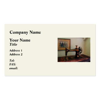 Sewing Machine and Lithograph Pack Of Standard Business Cards