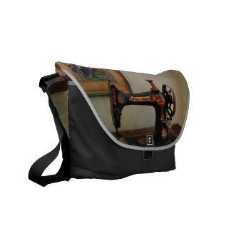 Sewing Machine and Lithograph Courier Bag