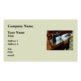 Sewing Machine and Pincushions Business Card Templates