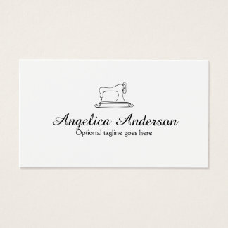 Sewing Machine Business Card