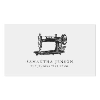 Sewing Machine Double-Sided Standard Business Cards (Pack Of 100)