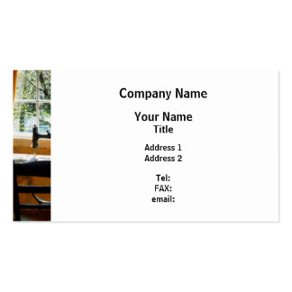 Sewing Machine By Window Pack Of Standard Business Cards