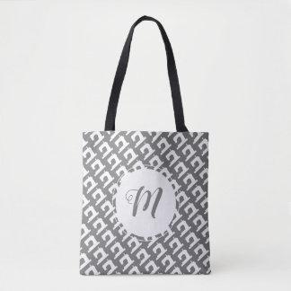 Sewing Machine Crafts w/ Initials Tote Bag