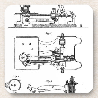 Sewing Machine feeding mechanism - Mary Carpenter Coaster