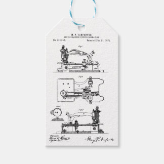 Sewing Machine feeding mechanism - Mary Carpenter Gift Tags