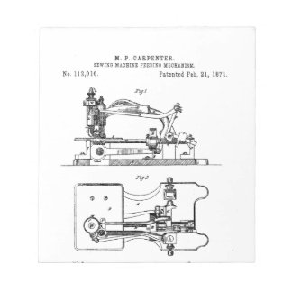 Sewing Machine feeding mechanism - Mary Carpenter Notepad