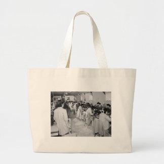 Sewing Machine Girls, 1943 Jumbo Tote Bag