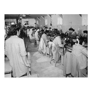 Sewing Machine Girls, 1943 Postcard
