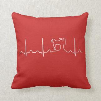SEWING MACHINE HEARTBEAT CUSHION