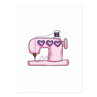 SEWING MACHINE POSTCARD