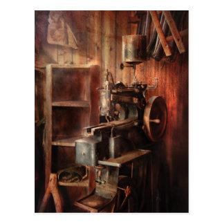 Sewing Machine - Sewing Machine for Saddle Making Postcard