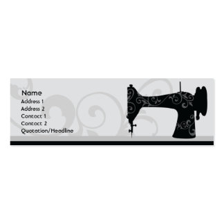 Sewing Machine - Skinny Business Card Templates