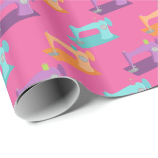 Sewing Machine tiled wrapping paper