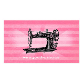 Sewing Machine Vintage Pink Business Card