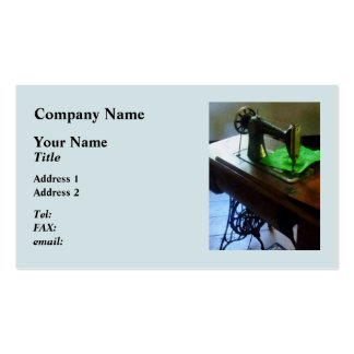 Sewing Machine With Green Cloth Pack Of Standard Business Cards