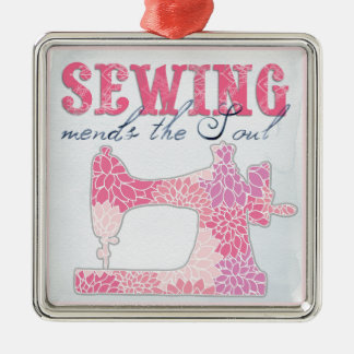 Sewing Mends the Soul Metal Ornament