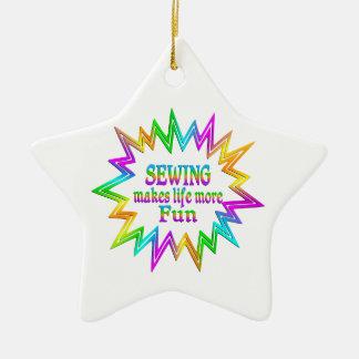 Sewing More Fun Ceramic Ornament