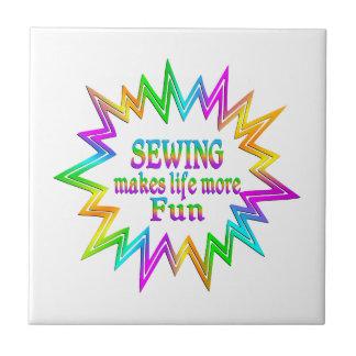 Sewing More Fun Ceramic Tile