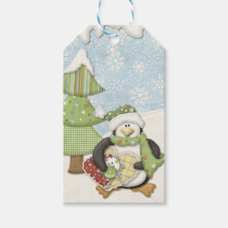Sewing Penguin Gift Tags