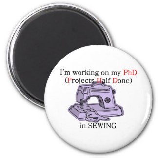 Sewing PhD 6 Cm Round Magnet