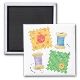 Sewing Quilting Craft Hobby Square Magnet