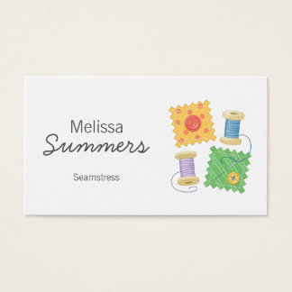 Sewing, Seamstress, Dressmaker Business Card