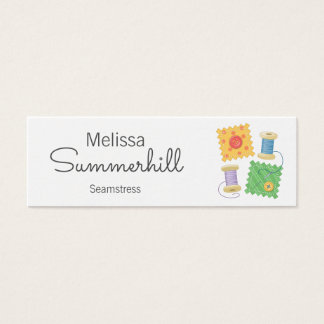 Sewing, Seamstress, Dressmaker Mini Business Card
