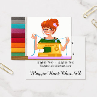 Sewing / Seamstress / Fashion Business Card