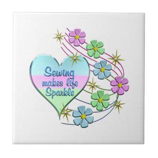 Sewing Sparkles Ceramic Tile