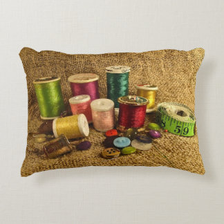 Sewing Supplies Accent Pillow