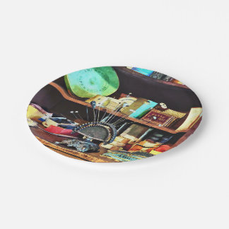Sewing Supplies in General Store Paper Plate