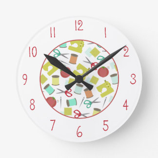 Sewing Themed Clock