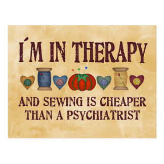 Sewing Therapy Postcard