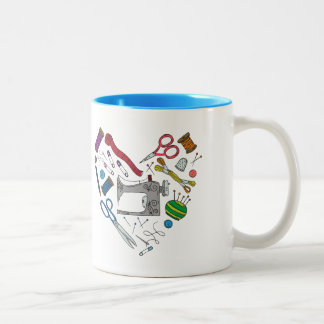 Sewing Tools Heart Mug