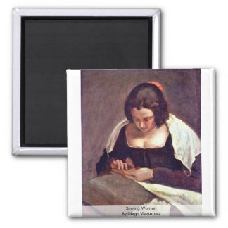 Sewing Women By Diego Velázquez Refrigerator Magnet