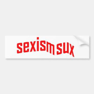 Sexism Sux Bumper Sticker Car Bumper Sticker