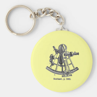 Sextant Basic Round Button Key Ring
