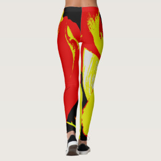 "Sexy Attitude Yoga Pants/Leggings ""Fire and Ice"" Leggings"
