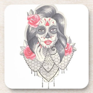 Sexy Day Of the Dead Drink Coaster